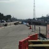 Pembangunan underpass Karanglo yang nyaris rampung. (Foto: Nurlayla Ratri/MalangTIMES)