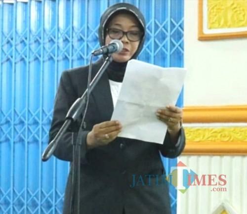Puji Hariwati, plt sekdin pendidikan Kabupaten Malang. (Nana)