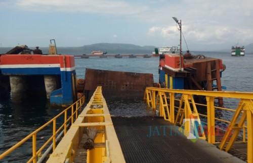 Kondisi dermaga Ponton Pelabuhan Ketapang