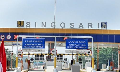 Area gerbang tol Malang-Pandaan di Singosari. (Arifina Cahyanti Firdausi/MalangTIMES)