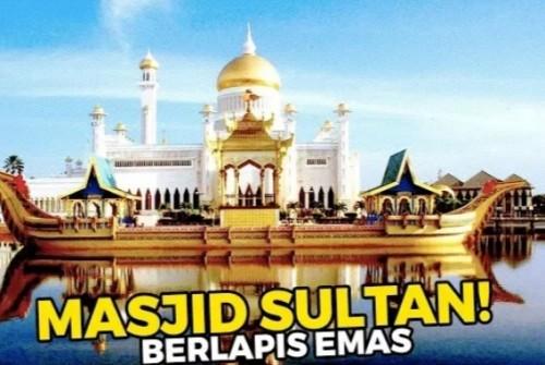 Ilustrasi masjid berlapis emas (daftar populer)