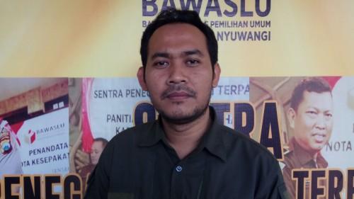 Koordinator Divisi Penindakan Pelanggaran Bawaslu Banyuwangi Anang Lukman.