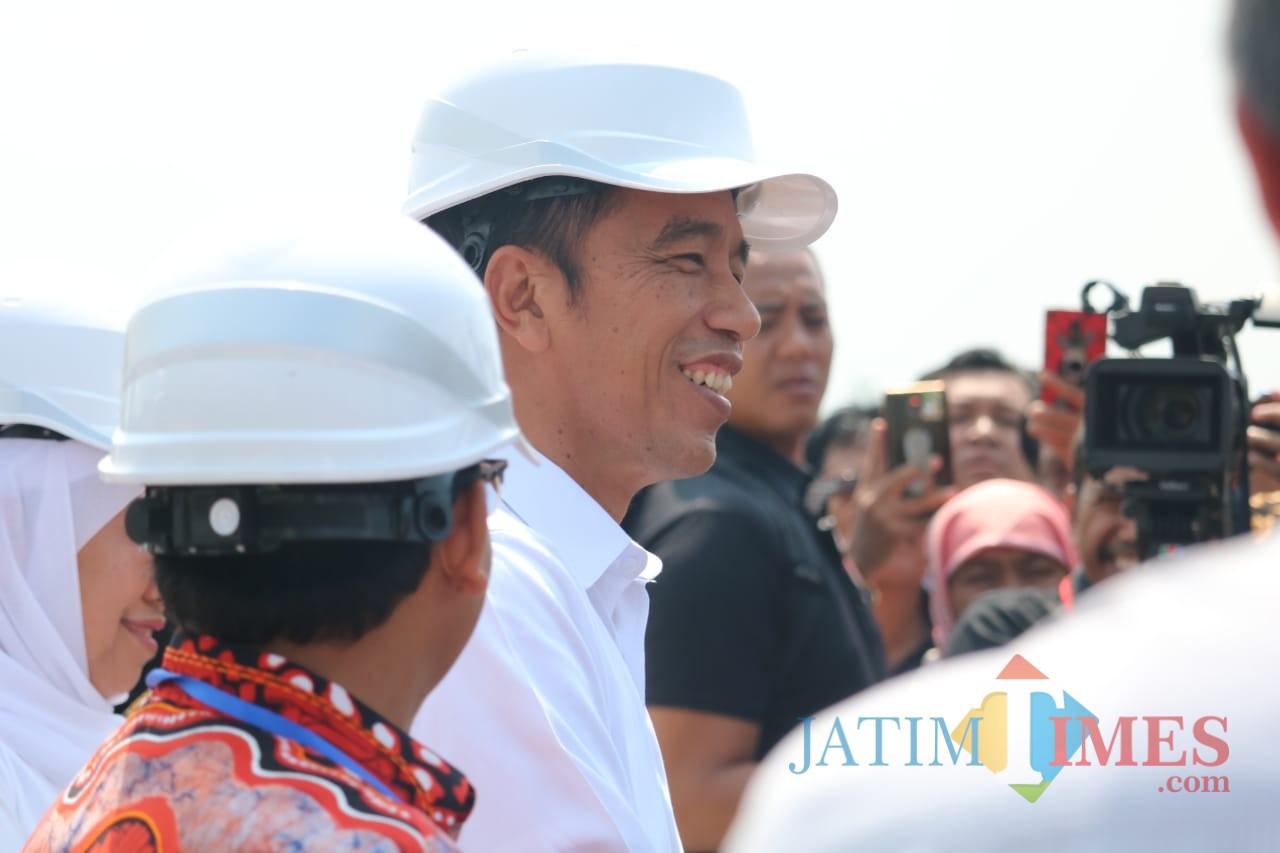 Presiden Joko Widodo saat meresmikan tol Malang-Pandaan di seksi 3 Singosari. (Istimewa).
