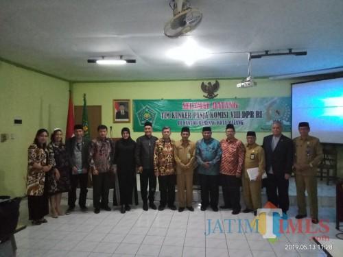 Kunker Panja Komisi VIII DPR untuk jaring aspirasi mengenai RUU Pesantren dan Pendidikan Keagamaan di Kakanwil Kota Malang (Anggara Sudiongko/MalangTIMES)