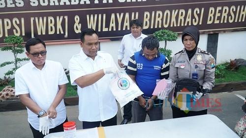 Rilis sabu Satreskoba Polrestabes Surabaya