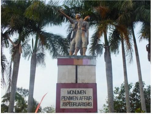 Monumen Peniwen Affair yang berada di Desa Peniwen, Kecamatan Kromengan, Kabupaten Malang. (Foto : Istimewa)