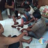 Enam Pelaku pencuri sapi asal Probolinggo yang dilumpuhkan pelor panas polisi (Foto: Heru Hartanto/ SitubondoTIMES)