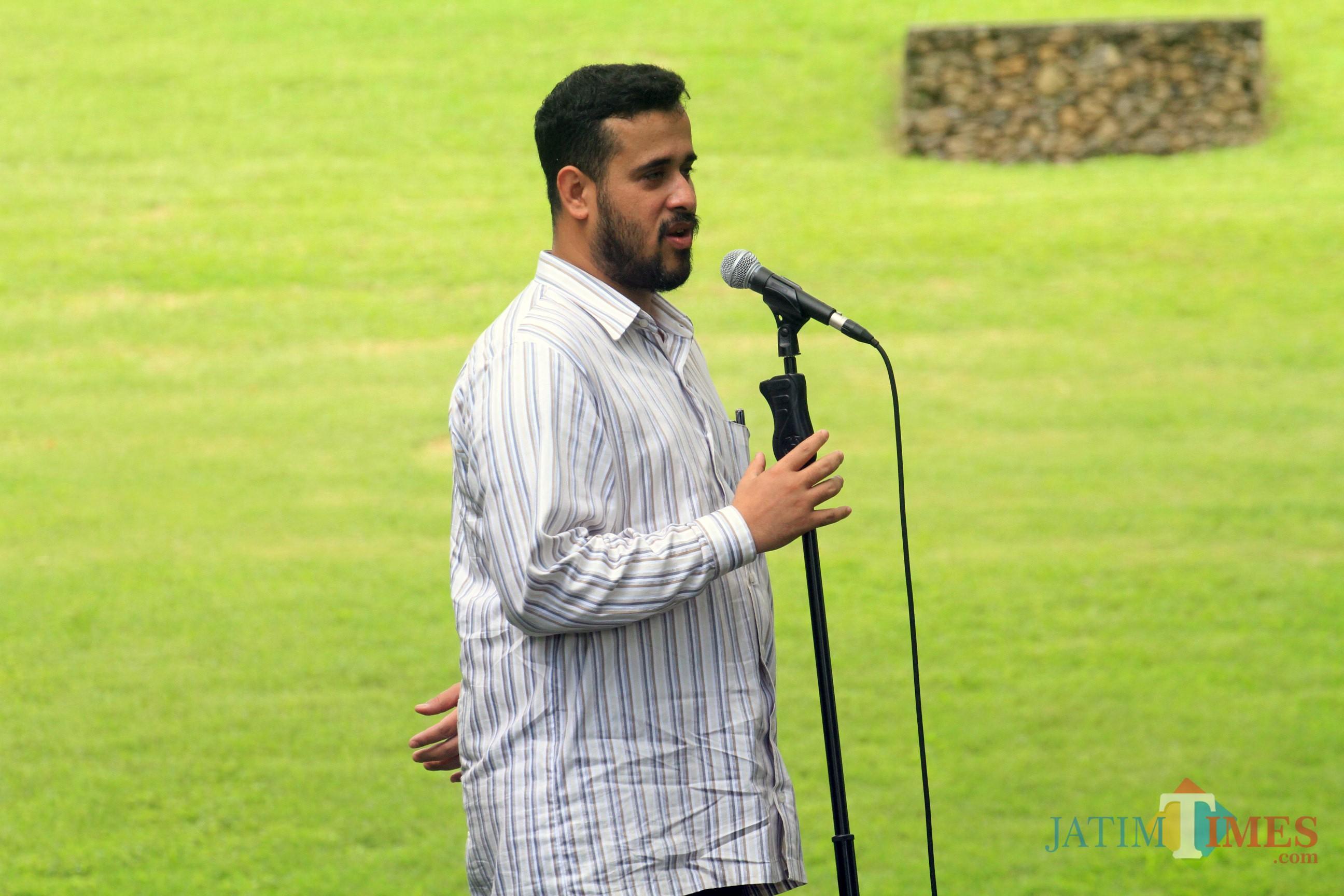 Wali kota Hadi Zainal Abidin dalam sebuah kesempatan (Agus Salam/Jatim TIMES)