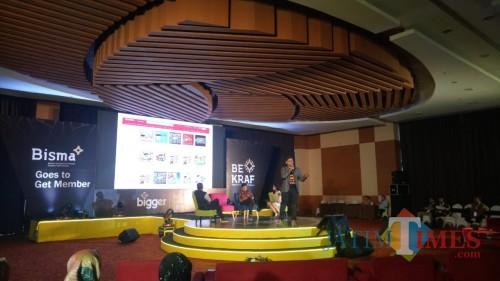 Bekraf mengajak pelaku ekonomi kreatif di Malang untuk memanfaatkan aplikasi BISMA. (Foto: Nurlayla Ratri/MalangTIMES)