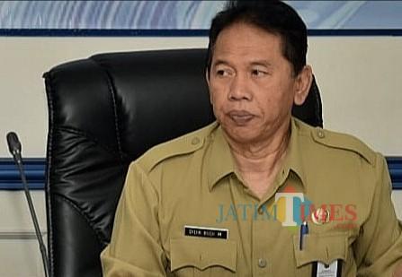 Sekda Kabupaten Malang Didik Budi Muljono menyampaikan THR cair tanggal 27 Mei 2019 mendatang (Nana)