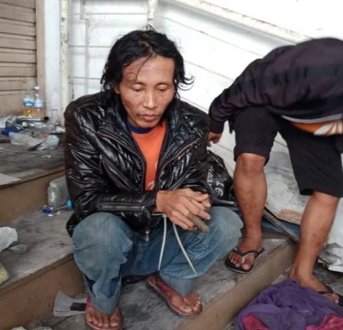 Sosok diduga pelaku mutilasi di Pasar Besar Malang. (Foto: Istimewa)