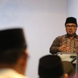 Wakil Wali Kota Malang Sofyan Edi Jarwoko saat memberikan sambutan dalam kegiatan Safari Ramadan Pemkot Malang. (Foto: Nurlayla Ratri/MalangTIMES)