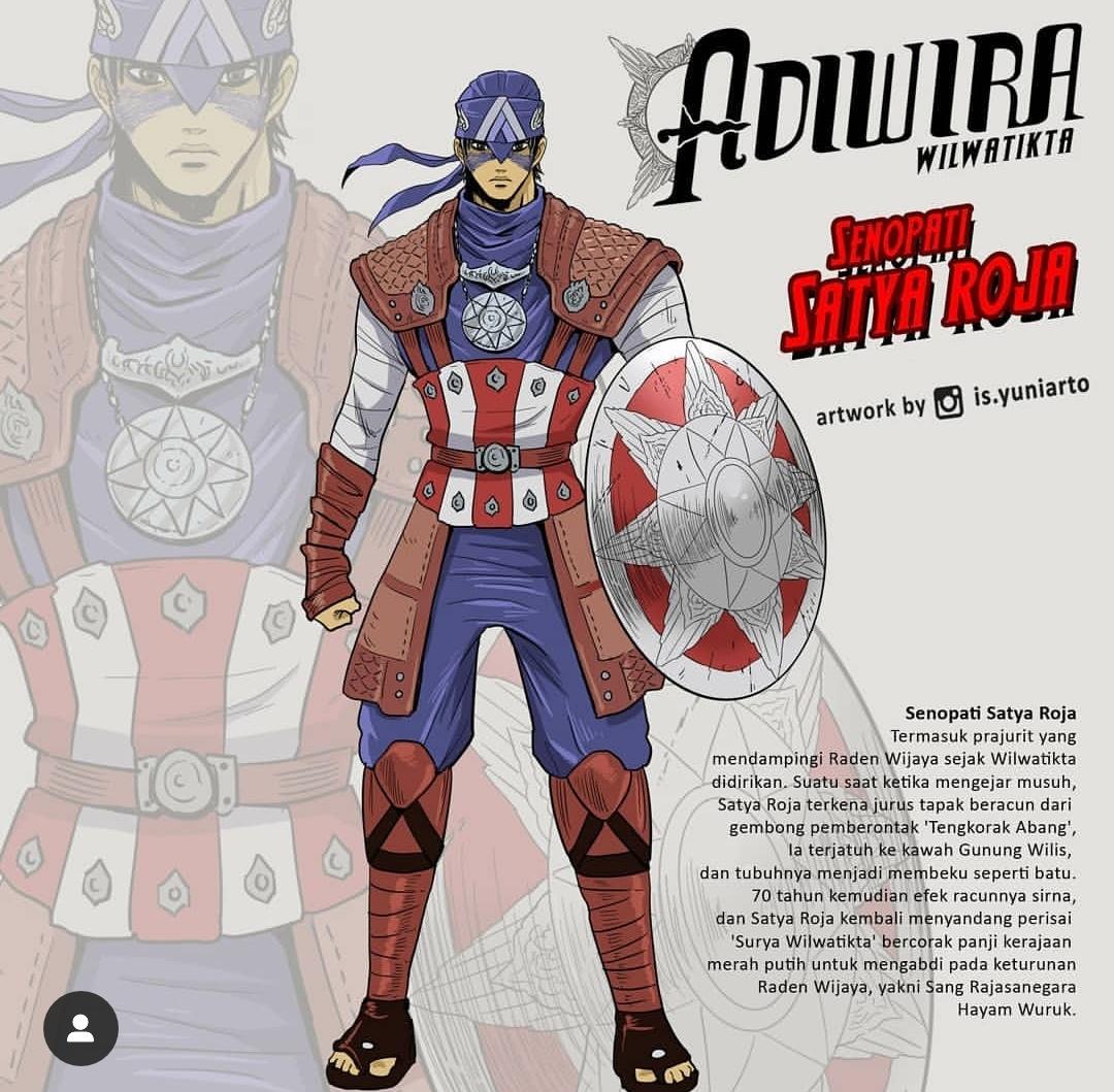 Senopati Satya Roja yang diambil dari figur Captain America (@is.yuniarto)