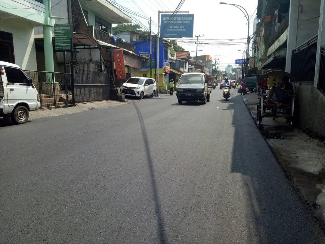 Jl. Galunggung saat usai di hotmix (istimewa)