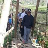 Tiga Jembatan Bambu Akses Penghubung Antar Desa di Kota Batu Siap Dibangun Jadi Tipe 2