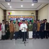 Di aula Makodim 0814/Jombang FKMJ membacaan naskah pernyataan sikap terkait penolakan aksi people power. (Istimewa)