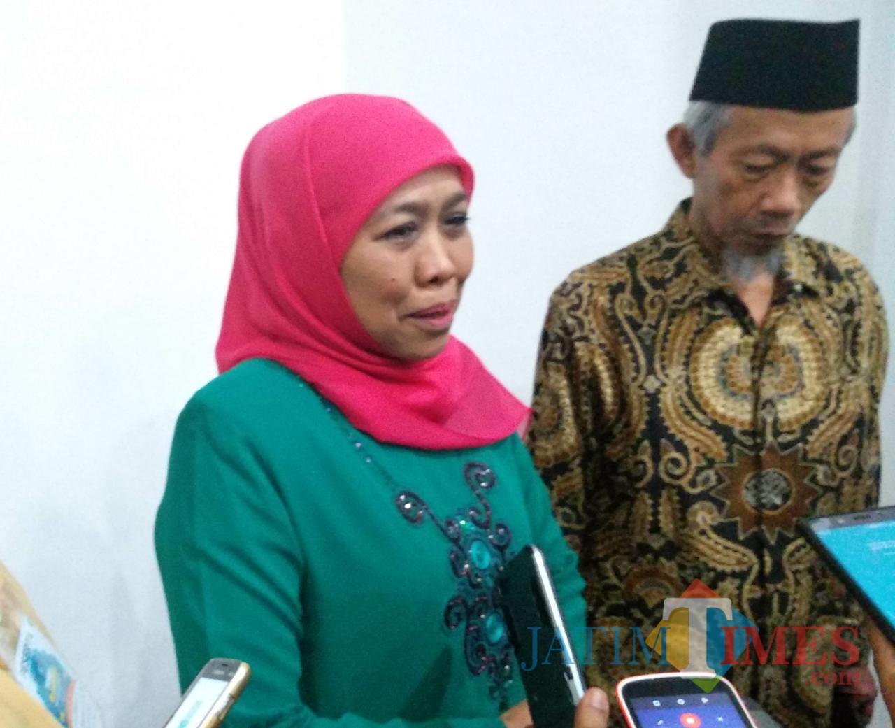 Gubernur Jatim Khofifah Indar Parawansa. (Foto: Imarotul Izzah/MalangTIMES)