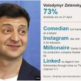 Tangkapan layar wajah Volodymyr Zelensky. (Foto: EPA-BBC News)