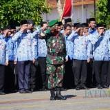 Suasana upacara Peringatan Hari Kebangkitan Nasional (Harkitnas) ke 111 di Balai Kota Among Tani, Senin (20/5/2019).
