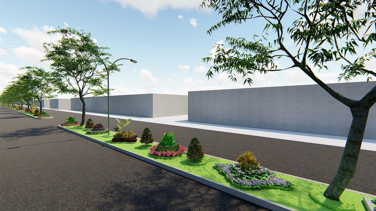 Kawasan Taman Jalan Borobudur yang direvitalisasi Disperkim Kota Malang (Disperkim For MalangTIMES)