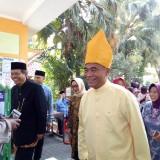 Mendikbud Muhadjir Effendy saat mengunjungi SMPN 1 Malang. (Foto: Imarotul Izzah/MalangTIMES)
