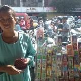 Lapak dagangan milik Ismawati di area Pasar Besar Kota Malang. (Arifina Cahyanti Firdausi/MalangTIMES)