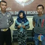 NL saat diamankan di Polsek Kota Tulungagung / Foto : Dokpol / Tulungagung TIMES