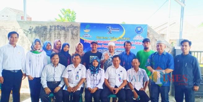Suasana bimtek di Panti Rehabilitasi Genesa Foundation Banyuwangi oleh BNN  Provinsi Jatim, Selasa (21/5/19).