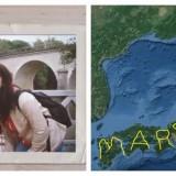 Takahashi dan sang kekasih, serta gambar GPS Historynya (Foto: Istimewa)