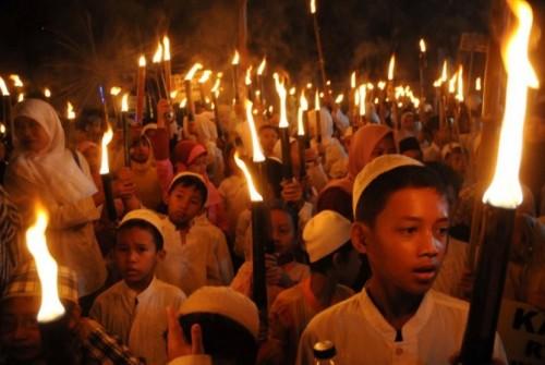 Takbir keliling menyambut perayaan Hari Raya Idul Fitri.(Foto: Istimewa)