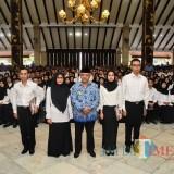 Wabup Malang Sanusi bersama para CPNS Kabupaten Malang (Humas )