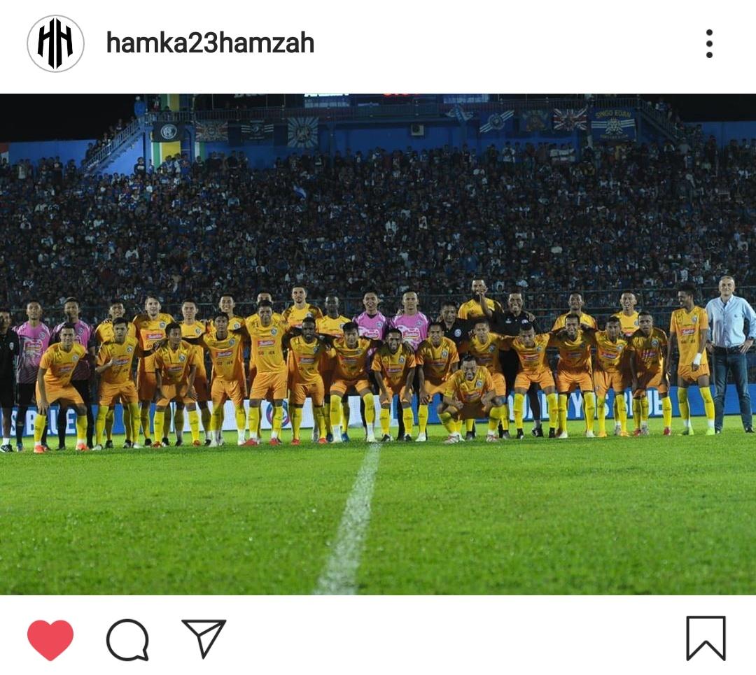 Postingan Hamka Hamzah di akun Instagram pribadinya (screenshot Instagram)