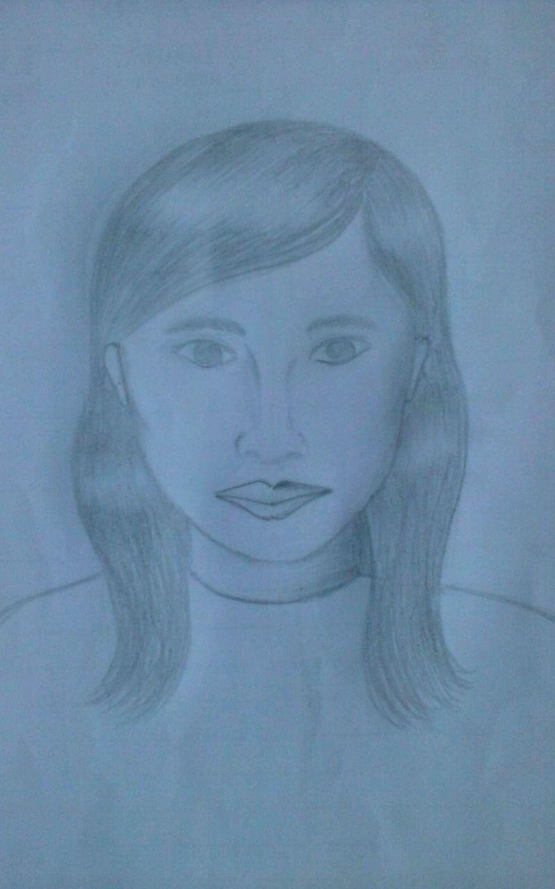 Sketsa sementara wajah korban (ist)