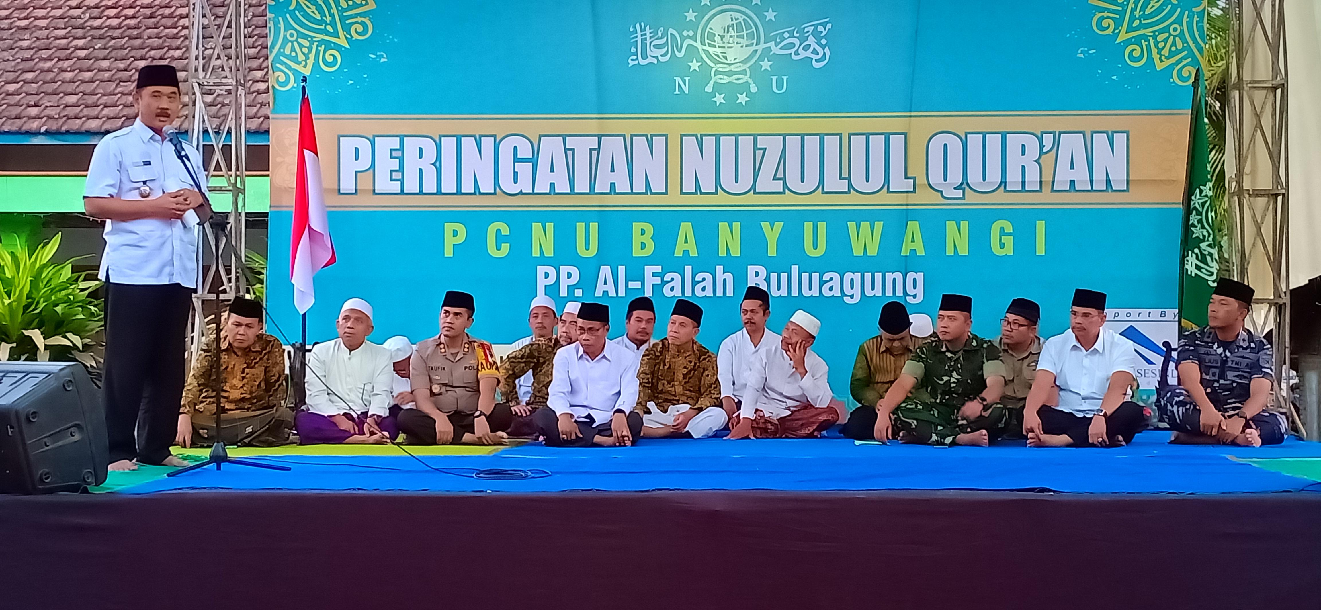 Ulama dan Umara Banyuwangi dalam acara peringatan Nuzulul Quran
