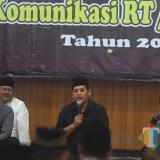 Walikota Kediri Abdullah Abu Bakar saat memberikan sambutan. (eko Arif s /JatimTimes)