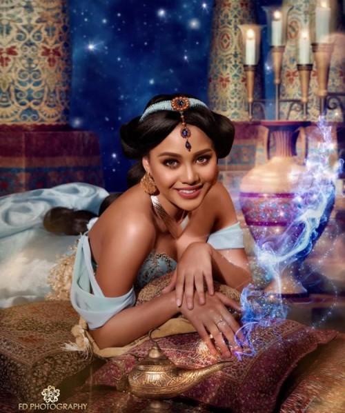 Aurel Hermansyah saat berdandan bak Putri Jasmine. (Foto: instagram @aurelie.hermansyah)