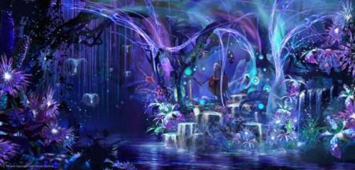 Salah satu pemandangan dunia fantasi Pandora di film Avatar (Foto: Istimewa)