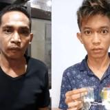 Dua tersangka Bapak dan anak yang sama-sama ditahan Polres Lumajang (Foto : Moch. R. Abdul Fatah / Jatim TIMES)