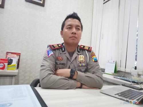 Kasat lantas Polres Malang Kota, AKP Ari Galang Saputro (Anggara Sudiongko/MalangTIMES)