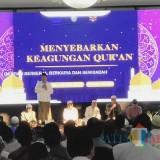 Bupati Dadang saat memberikan sambutan pada kegiatan Nuzul Quran di pendopo Kabupaten (Foto Sony Haryono Situbondo / TIMES)