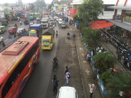 Ilustrasi kemacetan yang terjadi saat mudik lebaran, Kabupaten Malang (Foto::Ashaq Lupito / MalangTIMES)