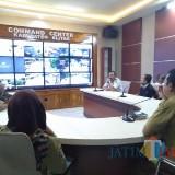 Launching portal info mudik di Command Center Pemkab Blitar.(Foto : Team BlitarTIMES)