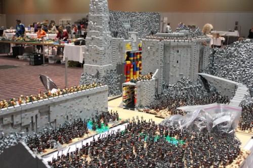 Salah satu model replika Lego The Lord Of The Rings (Foto : Istimewa)