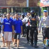 Pelaku kejahatan diamankan di Polres Pasuruan.