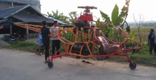 Helikopter rakitan tangan, bukan rakitan pabrik (istimewa)