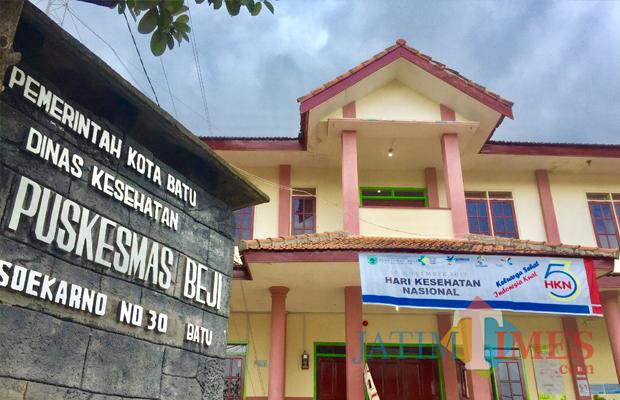 Puskesmas Beji terletak di jalan Ir Soekarno, Desa Beji, Kecamatan Junrejo. (Foto: Irsya Richa/BatuTIMES)