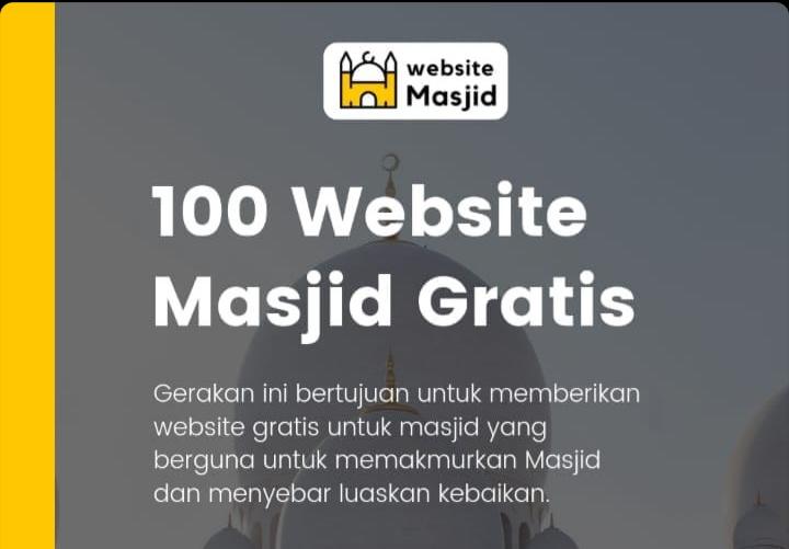 Website gratis untuk masjid