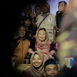 Dra Shinta Nuriyah Abdurrahman Wahid sahur bersama lintas agama dan lintas masyarakat di Kelenteng Tjoe Hwie Kiong Kediri. Foto: (B. Setioko/ JatimTIMES)