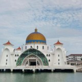 Malacca Straits Mosque, Melaka Malaysia (istimewa)