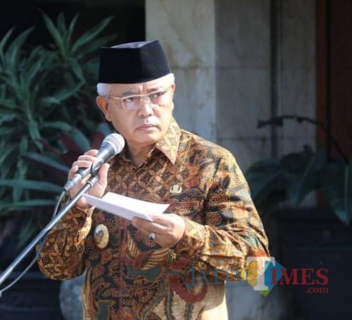 Wabup Malang Sanusi ingatkan GP Ansor agar tetap menjaga NKRI.(Humas for MalangTIMES)